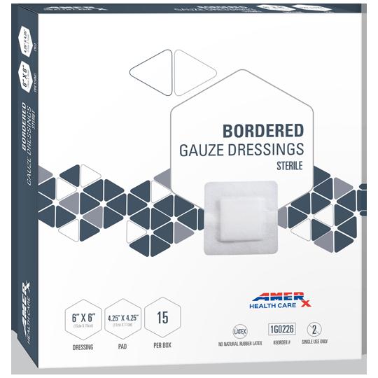 AMERX® Bordered Gauze Dressing - 2 x 2