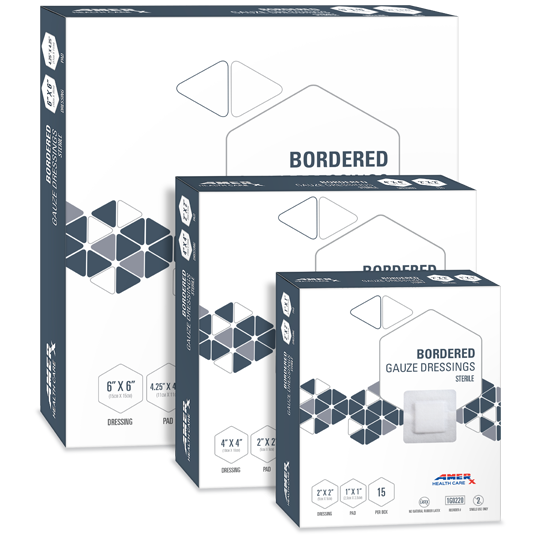 AMERX® Bordered Gauze Dressings