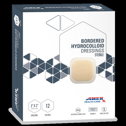 """AMERX® Bordered Hydrocolloid Dressings - 2"""" x 2"""""""