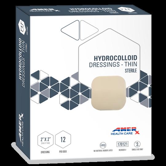"""AMERX® Thin Hydrocolloid Dressings - 2"""" x 2"""""""