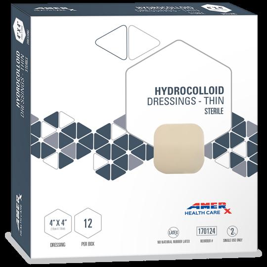"""AMERX® Thin Hydrocolloid Dressings - 4"""" x 4"""""""