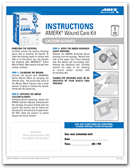 AMERX Wound Care Kit with AMERX Calcium Alginate Instructions Sheet
