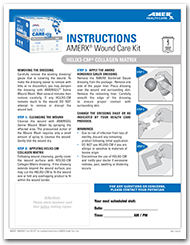 AMERX Wound Care Kit with HELIX3-CM Collagen Matrix Instructions Sheet